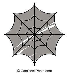Isolated spiderweb icon. Halloween season icon - Vector