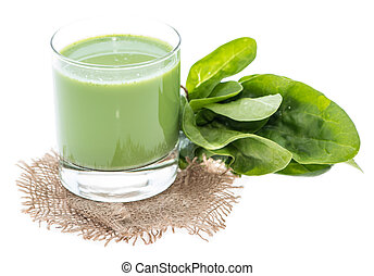 Isolated Spinach Juice