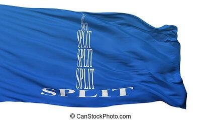 Isolated Split city flag, Croatia - Split flag, city of...