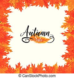 isolated square autumn sale background
