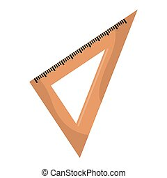 Isolated square ruler image . School supplies- VEctor