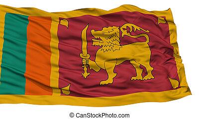 Isolated Sri Lanka Flag, Waving on White Background, High...