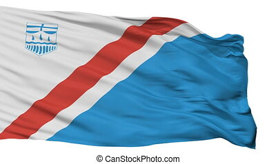 Isolated St Albert city flag, Canada - St Albert flag, city...