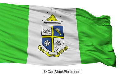 Isolated St. Catharines city flag, Canada - St. Catharines...