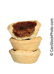 isolated stack butter tarts