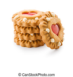 isolated stack of cookie