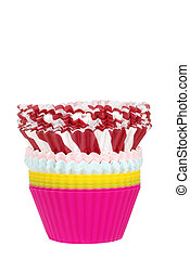 stack of cupcake cups