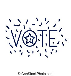 Isolated star of vote design