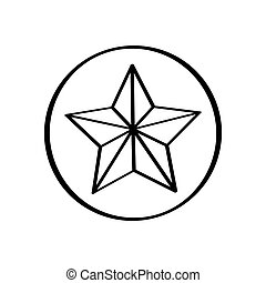 Isolated star shape icon on a white background