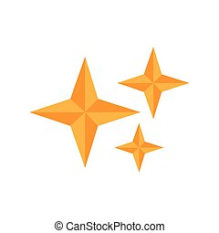 Isolated star shape icon. Vector illustration design