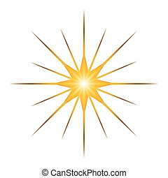 Star shape isolated on white background, Manger vector illustration