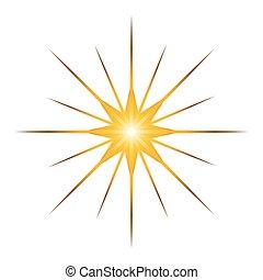 Isolated star shape - Star shape isolated on white...