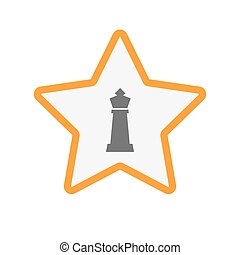 Isolated star with a  king   chess figure