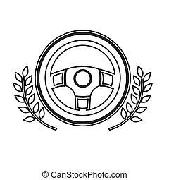 Isolated steering wheel design - Steering wheel icon. Car...