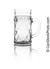Isolated stein glass on a white background