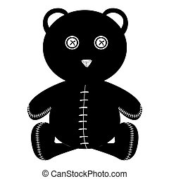 Isolated stitched teddy bear