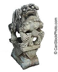 isolated stone dragon