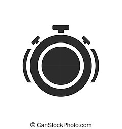 Isolated stopwatch icon time over sound on a white background