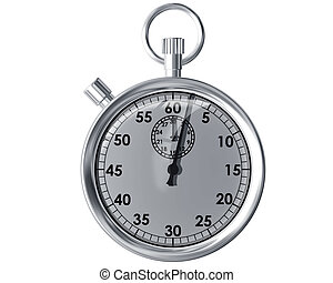 Isolated stopwatch - Illustration of an isolated traditional...