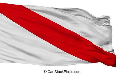 Isolated Strasbourg city flag, France - Strasbourg flag,...