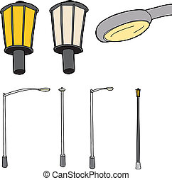 Isolated Street Lamps