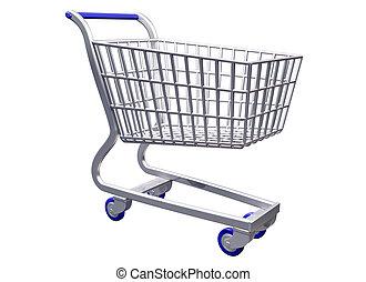 Isolated  Stylized shopping cart