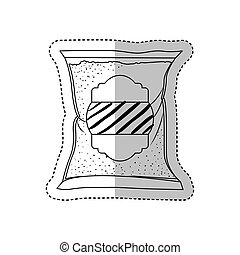 Isolated sugar bag design