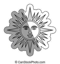 Isolated sun cartoon design