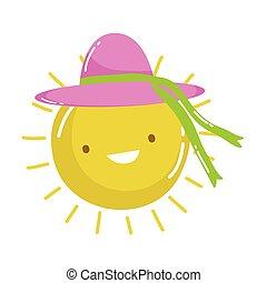 Isolated sun cartoon vector design
