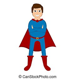 Isolated super dad with a hero costume
