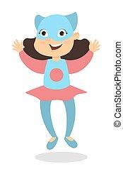 Isolated superhero girl.