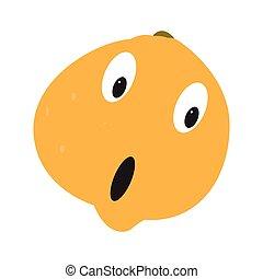 Isolated surprised orange
