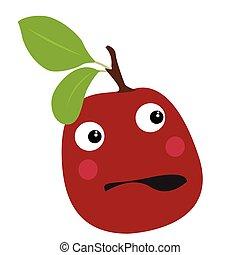 Isolated surprised plum