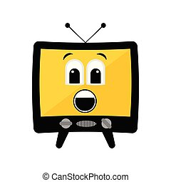 Isolated surprised tv emote