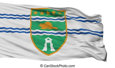 Isolated Surrey city flag, Canada - Surrey flag, city of...