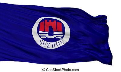 Isolated Suzhou city flag, China - Suzhou flag, city of...