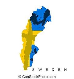 Isolated Swedish map