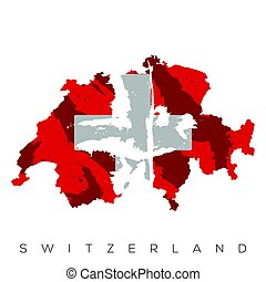 Isolated Swiss map