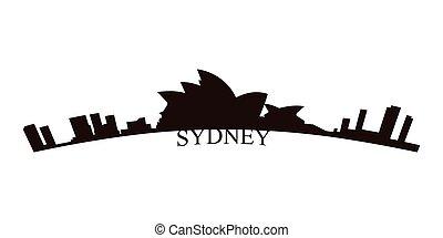 Isolated Sydney skyline