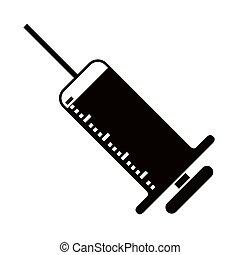 Isolated syringe icon on a white background