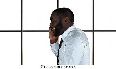isolated., téléphone, noir