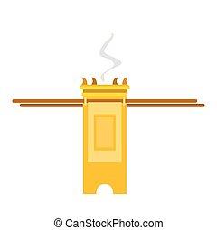 Isolated tabernacle image - Isolated golden tabernacle...