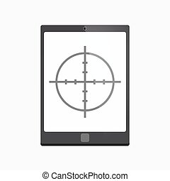 Isolated tablet pc with a crosshair