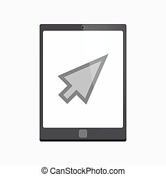 Isolated tablet pc with a cursor