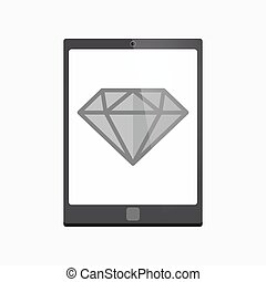 Isolated tablet pc with a diamond