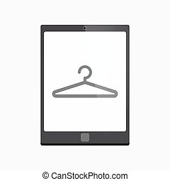 Isolated tablet pc with a hanger