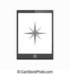 Isolated tablet pc with a sparkle