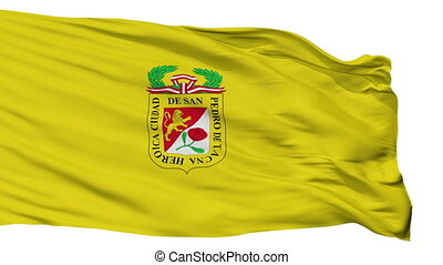 Isolated Tacna city flag, Peru - Tacna flag, city of Peru,...