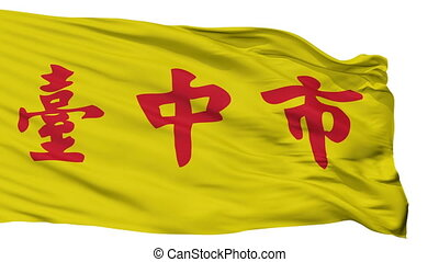Isolated Taichung city flag, China - Taichung flag, city of...