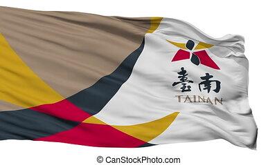 Isolated Tainan city flag, China - Tainan flag, city of...